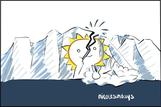 cracking glacier, nicolesundays